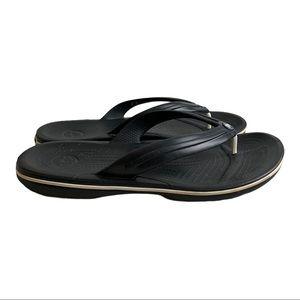 Crocs Men's Crocband Black FlipFlop Sandal Size 11